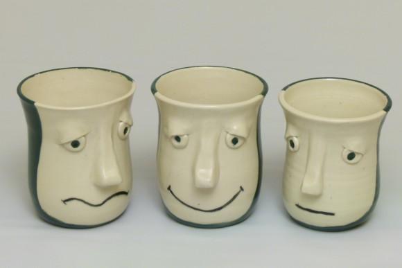 Face Mugs - Smirkie Smilie and Sulkie