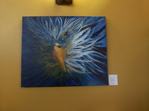 Dramatic Eagle Eye in acrylic