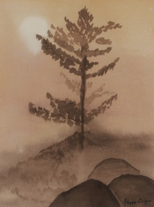 Lone Tree - monochromatic study