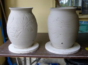 Rain Barrels in progress